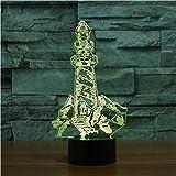 Led 3D Leuchtturm Modellierung Visuelle Nachtlicht 7 Farben Ändern Gebäude Tischlampe Schlafzimmer Dekor Nacht Baby Schlaf Beleuchtung Geschenke