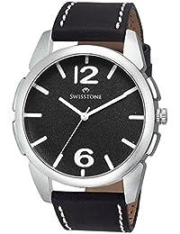 Swisstone FTREK612-BLACK Black Dial Black Strap Analog Wrist Watch For Men/Boys