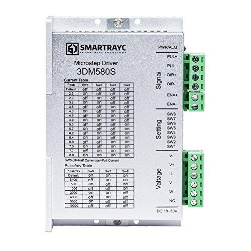 3-Phasen-Stepper Motor Driver 3DM580S 1.0-8.0A 18-50VDC für CNC Nema 17, 23, 24 und 34 Stepper Motor von Smartrayc