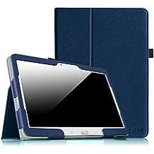 Coque Samsung Galaxy Tab 4 10.1 Étui Housse - Fintie Folio Slim-Fit étui Coque Case Cover avec support et Fonction Sommeil/Réveil Automatique pour Tablette Samsung Galaxy Tab 4 10.1 SM-T530 SM-T535 (10.1 Pouces), Bleu Foncé