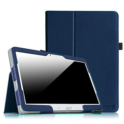 galaxy tab t530 Fintie Samsung Galaxy Tab 4 10.1 Hülle Case - Slim Fit Folio Kunstleder Schutzhülle Cover Tasche für Samsung Galaxy Tab 4 10.1 SM-T530 SM-T535 Tablet (mit Auto Schlaf/Wach Funktion), Marineblau