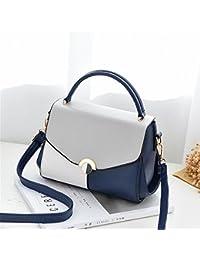 31078599b4 SJMMBB Fashion Ladies Borsetta, Borsa A Tracolla, Ragazza  Sacchetta,Blu,22X17X9Cm
