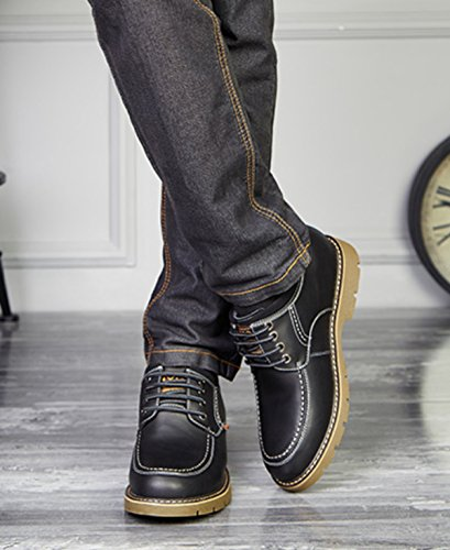 GRRONG Four Seasons Four Seasons Augmenter Chaussures 10cm Loisirs Chaussettes Respirantes 8cm Darkgray