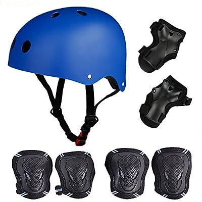 SelfLove Helmet Skate Protektoren Set mit Helm Knie Pads Elbow Pads mit Handgelenkschoner für Skate Skateboard Roller Skate BMX Bike