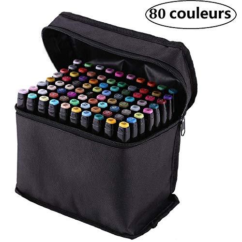 PetHot 80 Color Set Arte Dibujo Touch Cinco Doble