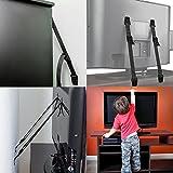 Sicherheit TV und Möbel Träger, Anti-Kipp-Anker für jeden Möbel, extra starker Halt für leichte und schwere Möbel, Kindersicherung 8Stück