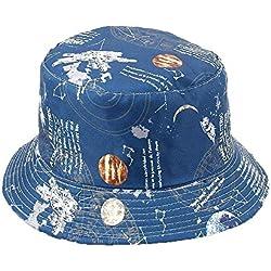 Sombreros. Estampados universales con ilustraciones del cosmos.