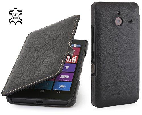 StilGut Book Type Case mit Clip, Hülle aus Leder für Microsoft Lumia 640 XL / 640 XL Dual SIM, schwarz