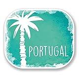 2 x 10cm/100 mm Portugal Autocollant de fenêtre en verre Voiture Van Locations #6489