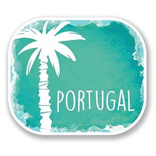 Preisvergleich Produktbild 2 x 10cm/100mm Portugal Vinyl SELBSTKLEBENDE STICKER Aufkleber Laptop reisen Gepäckwagen iPad Zeichen Spaß #6489