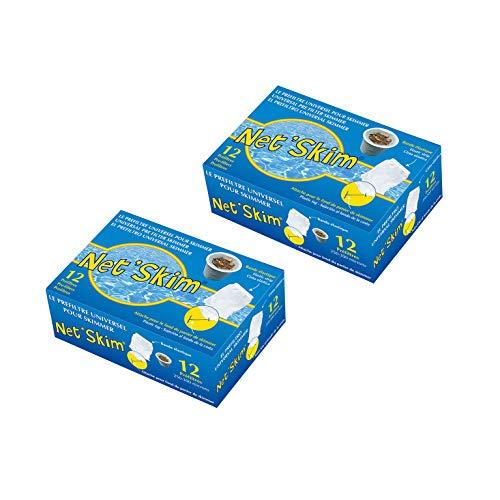 Toucan 24 NetSkim universeller Vorfilter für Skimmer, für Pools und Whirlpools, 2 x 12 Stück in der Box -