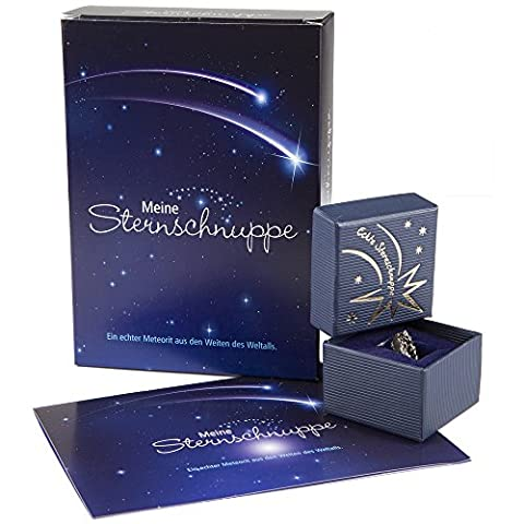 Meine Sternschnuppe in Geschenkbox mit Grußkarte (Geschenkset) - Meteorite - Geschenkidee für sie & ihn - Geburstagsgeschenk - Weihnachtsgeschenk - Geschenk zur Taufe &