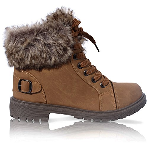 ladies-faux-fur-grip-sole-winter-warm-ankle-womens-boots-trainers-shoes-size-3-8
