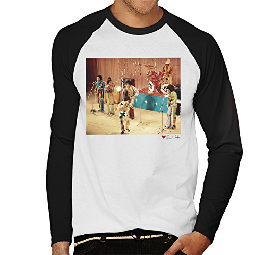 Don't Talk To Me About Heroes David Redfern Official Photography - The Jackson 5 At The Royal Variety Performance White Men's Baseball Long Sleeved T-Shirt