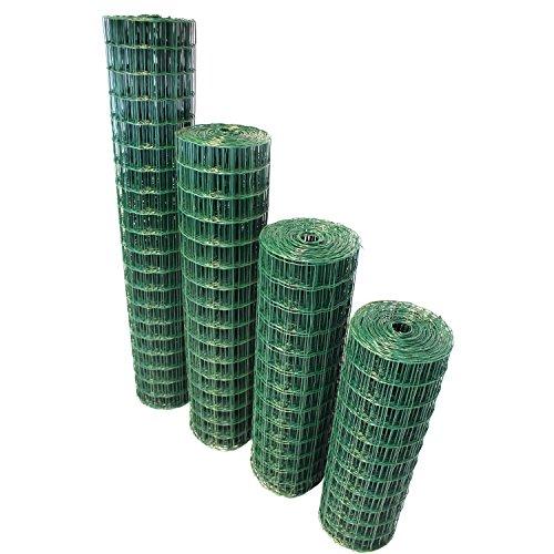 TOP MULTI Maschendrahtzaun Wildzaun Gartenzaun PVC-beschichtet grün - versandkostenfrei (D) (76mm 80cm x 10m)