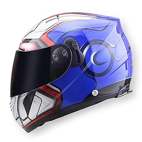 ZJJ Helm- Regen- und UV-Schutzhelm, Unisex-Vollschutzhelm, Anti-Fog-Objektiv (Farbe : Blau, größe : 24x32cm)
