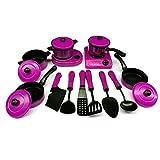 Spielküche Set, Pretend Play Toys, Kinderküche Spielzeug, Küchengeräte Kochgeschirr Spielset Spielzeug Spiel Haus Töpfe und Pfannen mit Kochutensilien Küche Spielset für Kinder (Lila - 13pcs)