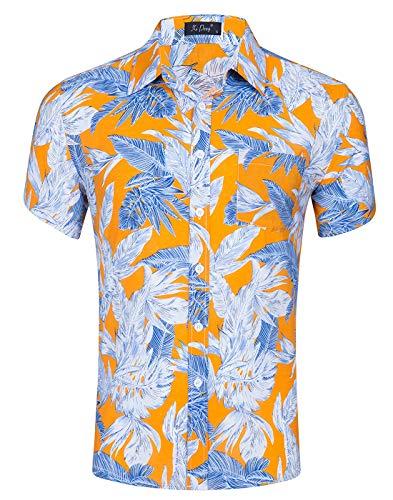 Idgreatim jugendlich Jungen Herren Hemd Plus Größen BluHerrent Hemden Shirts 3D Druckten kühle grafische T Hemden Shirts des Ozeans Coco (Jugend Hawaiian Shirt)
