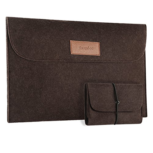 EasyAcc 13.3 pollici custodia Borse per Macbook Air Sleeve con Pocket 13.3' Felt Sleeve Pacchetto Borsa Case Cover per Apple Macbook Air 13/ Ultrabook/ Notebook/ Chroombook - Grigio
