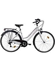 Route 66–Bicicleta Trekking 28pulgadas Route 66–Modelo blanco Marco aluminio