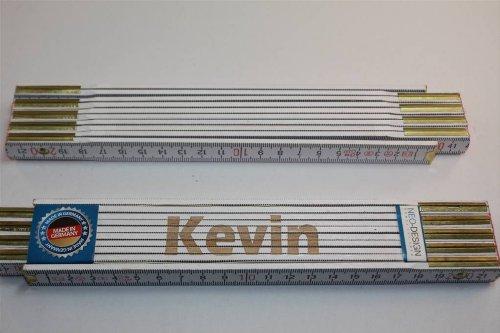 Preisvergleich Produktbild Zollstock mit Namen KEVIN Lasergravur