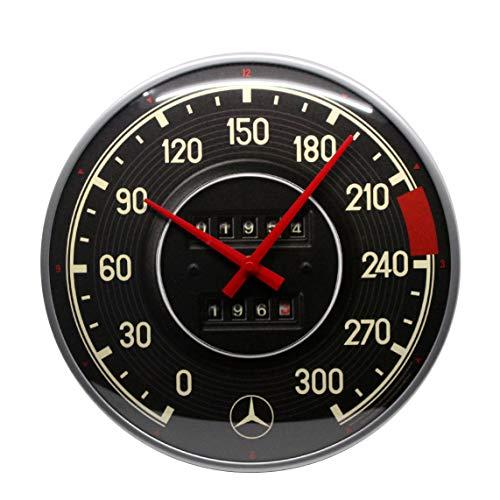 Nostalgic-Art Mercedes-Benz - Tacho Wanduhr, bunt, 31 cm