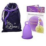 MeLuna Classic Copa Menstrual con Anillo, Color Violeta, Talla M - 1...