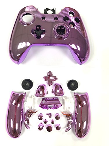 Canamite® Case Hülle Gehäuse Modding Cover Chrome Shell für Xbox One Controller (Lila)