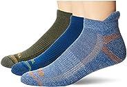 Merrell Men's Repreve Cushioned Hiker Low Cut Tab Socks, Bright Blue, Shoe Size: 9.