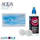 #9: Aquasoft FreshEyes Monthly Contact Lens (6 Lens Pack) with Free Lens Care Kit By Lens4Eye