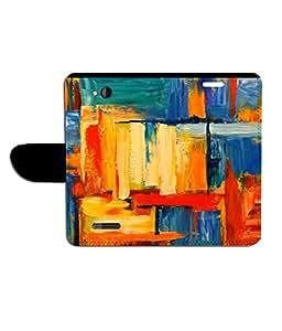 KolorEdge Printed Flip Cover For HTC Desire 616 - Multicolor(50KeMLogo8202HTC616)