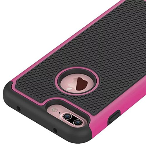 Schutzhülle Apple iPhone X Hülle, Durable Rüstung Stoßfestes Schild 2in1 Kombination Harte Schale Ball Muster für Apple iPhone X (Blau) Hot Pink