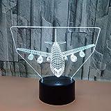 Illusion Lampada Effetto 3D, Tocco Vacanza Regalo Parallelo Aereo 3D Notte Luce Atmosfera Di Festa