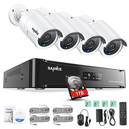 SANNCE Kit 4 Cámaras Vigilancia Seguridad