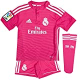 adidas Performance REAL MADRID AWAY MINIKIT Jersey de Futbol Soccer Rosa per Ninos Climacool
