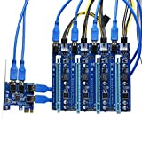 Seasiant India PCI-E 1 to 4 Ports USB 3.0 PCI Express Slot Power Expansion Card Adapter Board Single Item