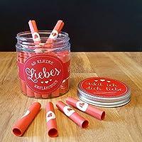 Liebesbox mit Liebeserklärungen & Liebesbotschaften - Geschenkidee Valentinstag Frau Mann