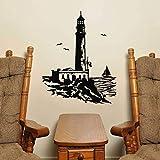 yiyiyaya Adesivi murali Grande Faro Adesivo murale in Stile mediterraneo Adesivi murali con Decorazioni per la casa 58x73cm