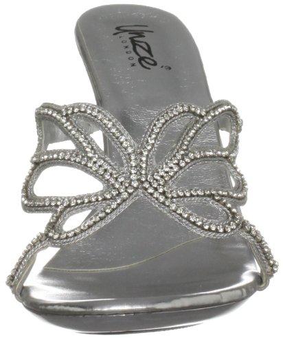 Unze Evening Sandals, Sandali col tacco donna Argento (Silber (L18480W))