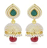 #5: Royal Bling Jewellery Fancy Party Wear Traditional Pearl Jhumki Jhumka Earrings For Women / Girls