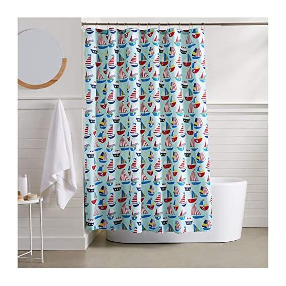 AmazonBasics Sailboat Shower Curtain