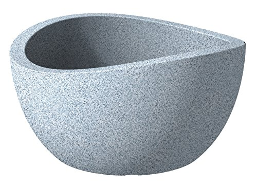 scheurich-wave-globe-pflanzschale-weiss-granit-oe-40-cm-hohe-21-cm