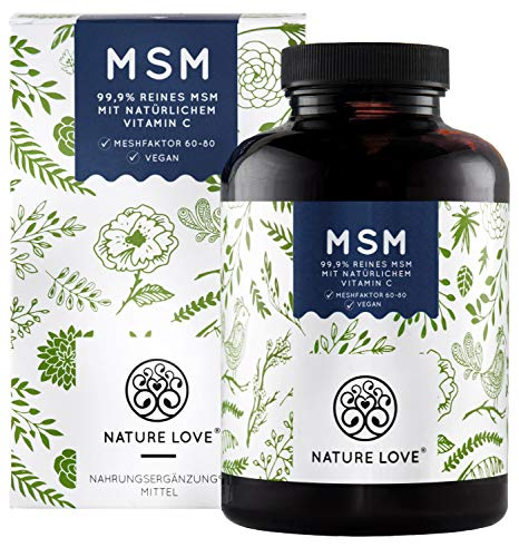 NATURE LOVE MSM - 365 vegane Tabletten (6 Monate) - Extra...
