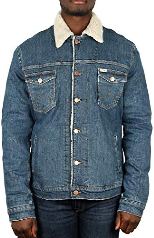 Wrangler Giubbino W4232125B-SHERPA Giacca Jeans Uomo W4232125B-SHERPA Giubbino JACKET verde bd4e93