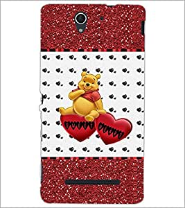 PrintDhaba Sweet Heart D-1286 Back Case Cover for SONY XPERIA C3 (Multi-Coloured)