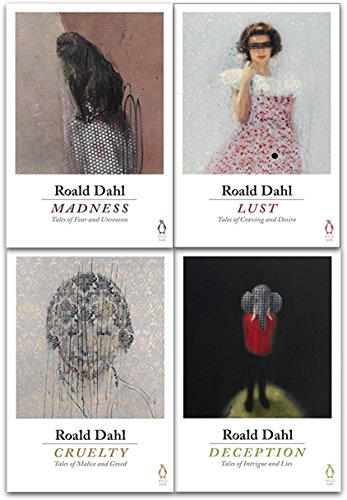 Roald Dahl 4 Books Collection Set (Deception, Madness, Cruelty, Lust)