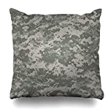 Housses de coussin, Throw Pillow Covers, Material Navy Military Digital Camouflage Patterns Universal Palette Camo Army ACU Pixel Desert Pillowcase Square Size 18 x 18 Inches Home Decor Cushion Cases