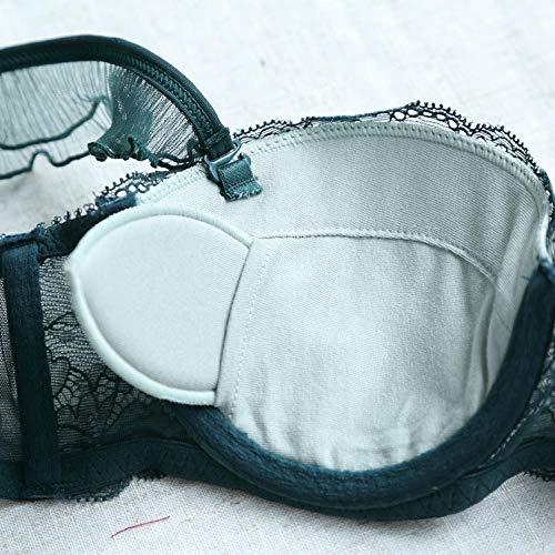 TIGERROSA Schwangerschafts- & Still-BHS Dessous_Neue Kleine Brust Damen Französisch Unterwäsche BH-Set 75B_Green - 3