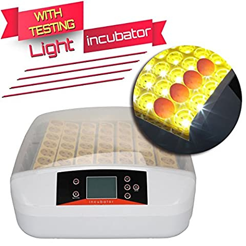 Ridgeyard 56 Eggs Incubator Automatic Digital Chicken Duck Egg Hatching Hatcher with Testing Light