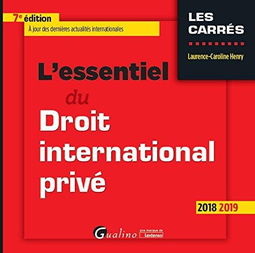 L'essentiel du droit international privé par Laurence-Caroline Henry